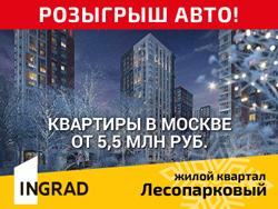 ЖК «Лесопарковый». Квартиры у леса от 5,5 млн руб. Метро Аннино и Лесопарковая